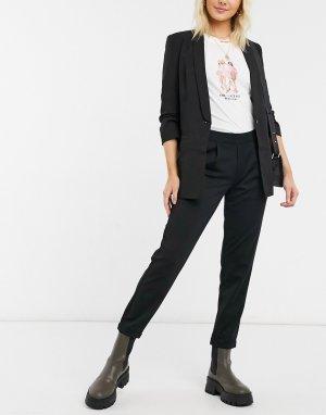 Черные укороченные строгие брюки -Черный JDY