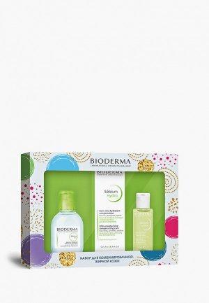 Набор для ухода за лицом Bioderma Себиум: Гидра крем 40ml + H2O 100ml Лосьон 50ml. Цвет: прозрачный