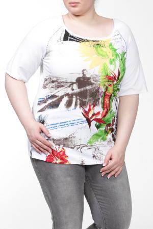 Блуза Alain Weiz. Цвет: попугай, цветной