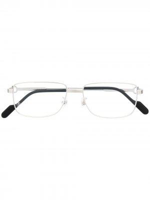 Солнцезащитные очки C de Cartier в прямоугольной оправе Eyewear. Цвет: серебристый