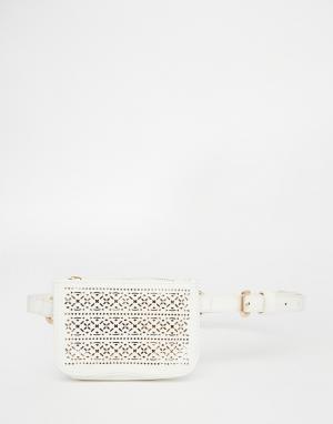 Ремень с кошельком Chopour New Look. Цвет: белый