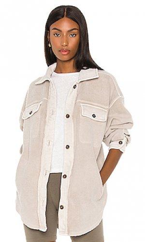 Куртка ruby Free People. Цвет: светло-серый