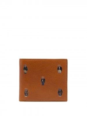 Кошелек с вышивкой Polo Ralph Lauren. Цвет: коричневый