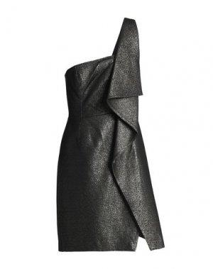 Короткое платье HALSTON. Цвет: свинцово-серый