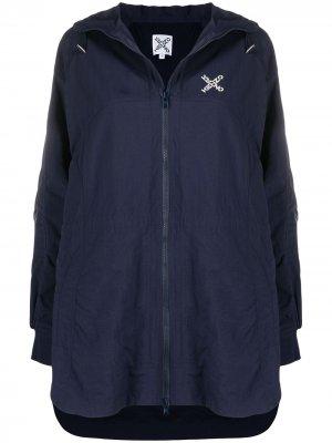 Logo-print hooded raincoat Kenzo. Цвет: синий