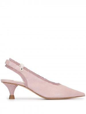 Туфли на низком каблуке с ремешком пятке Premiata. Цвет: розовый