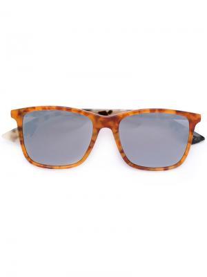 Солнцезащитные очки в объемной оправе Mcq By Alexander Mcqueen Eyewear. Цвет: коричневый