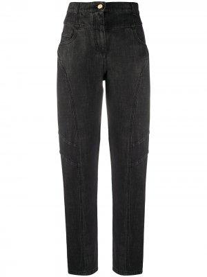 Прямые джинсы с завышенной талией Alberta Ferretti. Цвет: серый