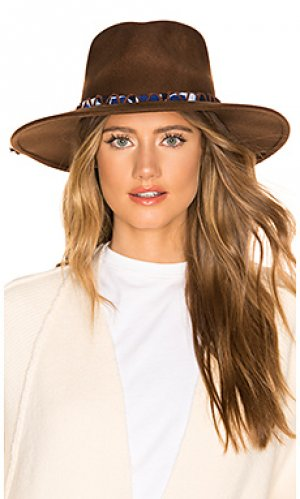 Шляпа timber ale by alessandra. Цвет: коричневый