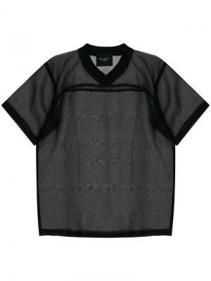 Прозрачная футболка в хоккейном стиле Not Guilty Homme. Цвет: черный