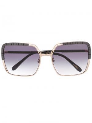 Солнцезащитные очки SCHC80S Chopard Eyewear. Цвет: золотистый