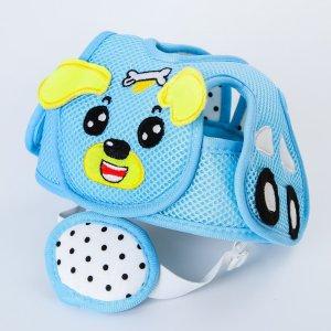 Шапка-шлем противоударный для детей, цвет голубой Крошка Я