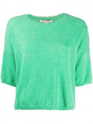 Свитер с короткими рукавами Autumn Cashmere. Цвет: зеленый