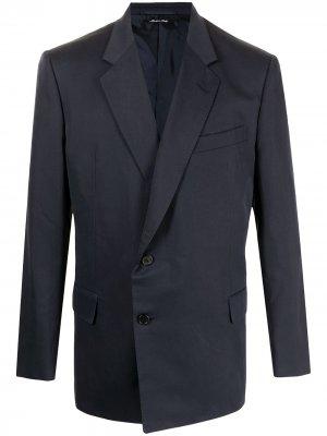 Однобортный пиджак с запахом Dunhill. Цвет: синий