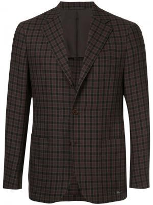 Пиджак в клетку United Arrows. Цвет: коричневый