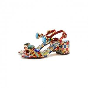 Кожаные босоножки Keira Dolce & Gabbana. Цвет: разноцветный