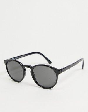 Черные солнцезащитные очки Spy-Черный цвет Weekday
