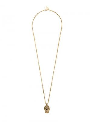 Цепочка с подвеской Nialaya Jewelry. Цвет: желтый