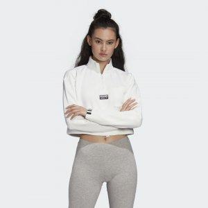Укороченный свитшот Originals adidas. Цвет: белый