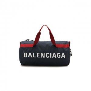 Текстильная спортивная сумка Wheel Balenciaga. Цвет: синий