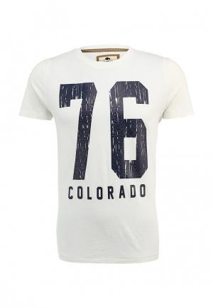 Футболка Colorado Jeans. Цвет: белый