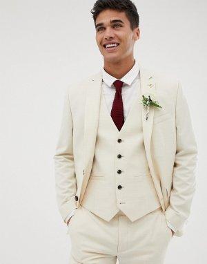 Кремовый приталенный пиджак Farah Henderson Smart
