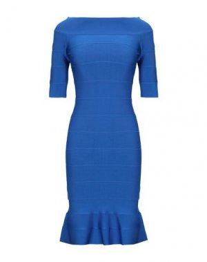 Короткое платье HERVÉ LÉGER. Цвет: ярко-синий