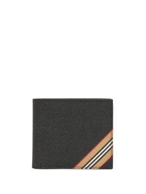 Бумажник с отделкой Icon Stripe Burberry. Цвет: черный