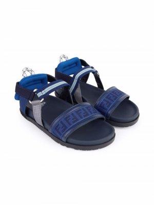 TEEN FF strap sandals Fendi Kids. Цвет: синий