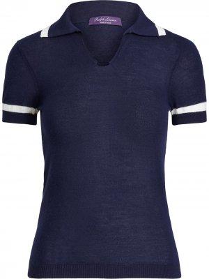 Кашемировая рубашка поло Ralph Lauren Collection. Цвет: синий