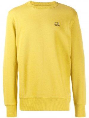 Толстовка с вышитым логотипом CP Company. Цвет: желтый