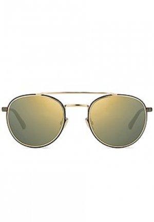 Солнцезащитные очки JIMMY CHOO. Цвет: желтый
