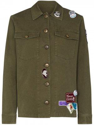 Куртка Angiolina с нашивками Golden Goose. Цвет: зеленый