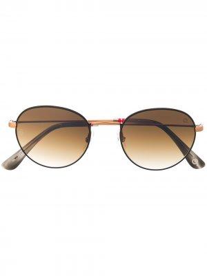 Солнцезащитные очки Laguna Beach в круглой оправе Etnia Barcelona. Цвет: коричневый