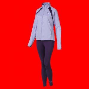 Спортивный костюм Yoga Inspired Suit PUMA. Цвет: фиолетовый