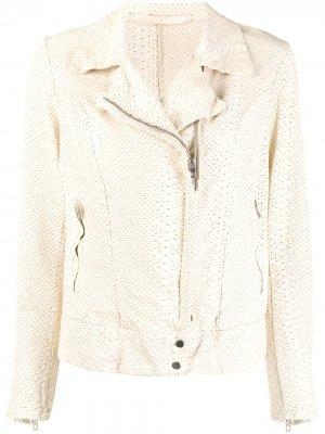 Куртка с узором Salvatore Santoro. Цвет: белый