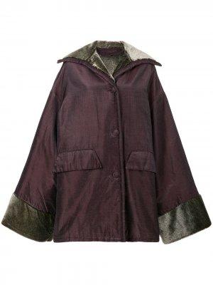 Оверсайз-пальто Romeo Gigli Pre-Owned. Цвет: розовый