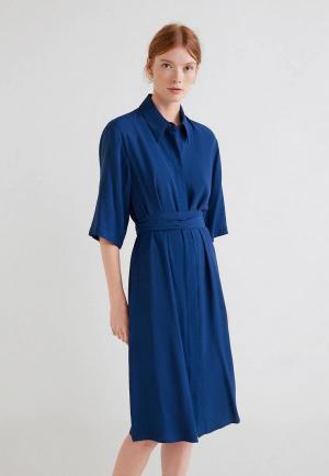 Платье Mango - AMANDA. Цвет: синий