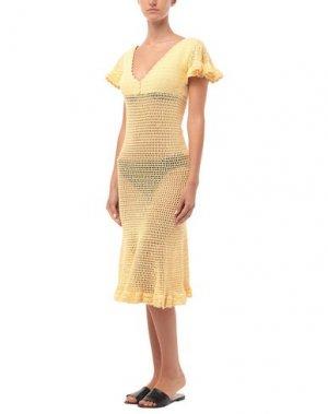 Пляжное платье SHE MADE ME. Цвет: светло-желтый