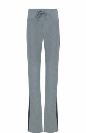 Расклешенные брюки с контрастными лампасами Wildfox. Цвет: серо-голубой