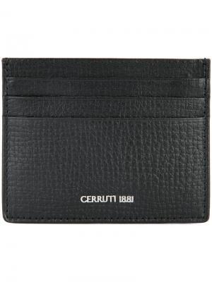 Визитница с логотипом Cerruti 1881. Цвет: чёрный