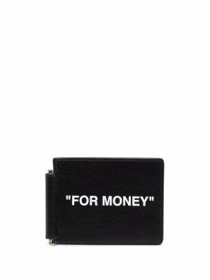 Бумажник For Money Off-White. Цвет: черный