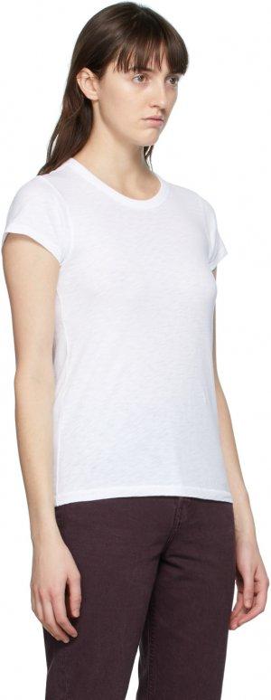 White Slub T-Shirt rag & bone. Цвет: white