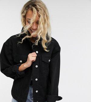 Черная джинсовая oversized-куртка inspired-Черный Reclaimed Vintage