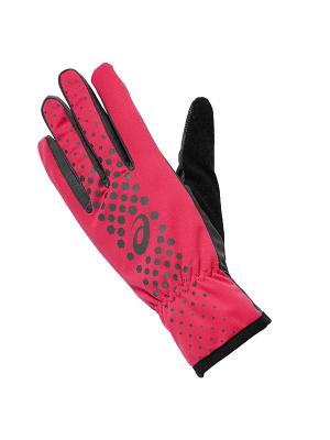Перчатки WINTER PERFORMANCE GLOVES ASICS. Цвет: розовый, серый