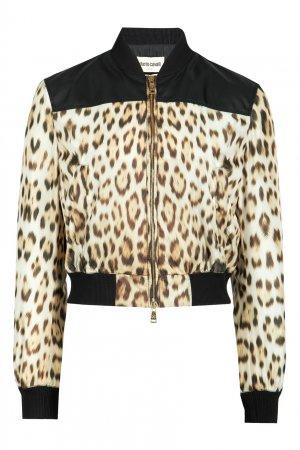 Бомбер с леопардовым принтом Roberto Cavalli. Цвет: леопардовый