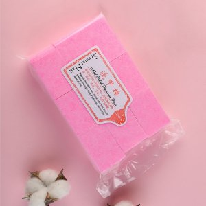 630шт подушка для снятия лака SHEIN. Цвет: розовые