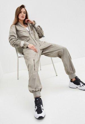 Комбинезон adidas by Stella McCartney WOVEN ALLINONE. Цвет: бежевый