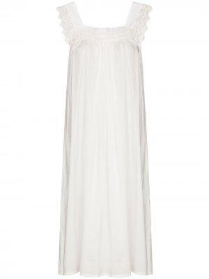 Ночная сорочка Tanya с кружевом Pour Les Femmes. Цвет: белый