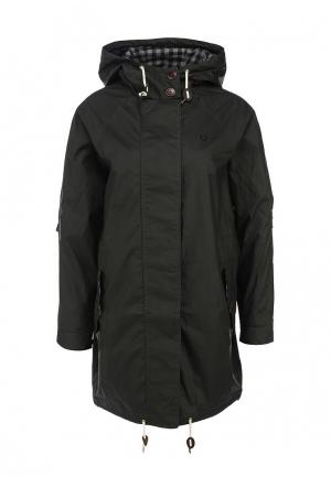 Парка Fred Perry Oversized Fishtail Parka. Цвет: зеленый